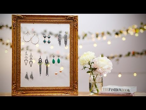 DIY Fashion | Vintage Frame Earring Holder | Designer DIY