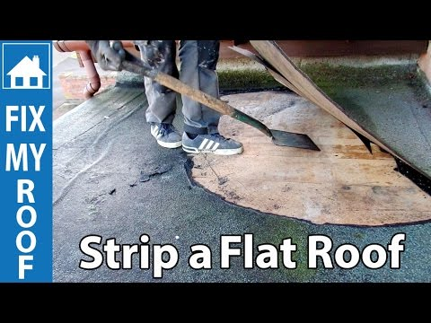 Strip a Flat Felt Roof - Replace a flat roof