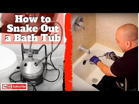 How to Snake Out a Bath Tub