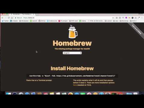 Install homebrew on macOS Sierra (2K17)