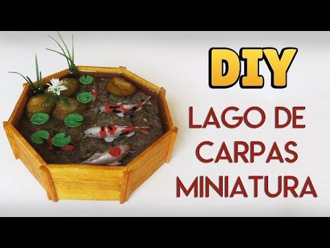 DIY: Lago de Carpas Miniatura - Koi Fish Pond Tutorial