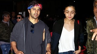 Varun Dhawan & Alia Bhatt Spotted At Airport, RETURNS From IIFA 2017 New York