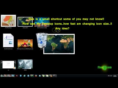 How to easily change desktop icon size on windows 7!!ultra fast in 1 second!!