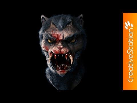 Vampire Wolf  - 3D  Speed art (#ZBrush)   CreativeStation