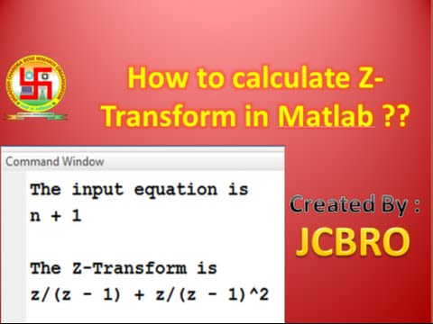 How to calculate Z-Transform in Matlab ??