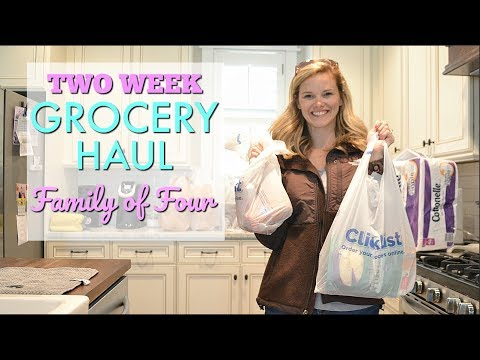 GROCERY HAUL  // TWO WEEK GROCERY HAUL FAMILY OF FOUR // KROGER CLICKLIST