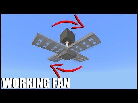 How to Make a Working Fan in Minecraft (Command Block)