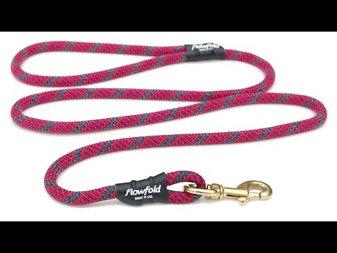 Flowfold Trailmate - 5' Reclaimed climbing rope dog leash - Made in USA