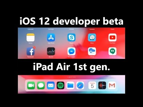 iOS 12 developer beta on iPad Air (1st gen.) - speed test & little preview