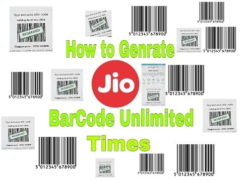How to get unlimited jio barcode in pc