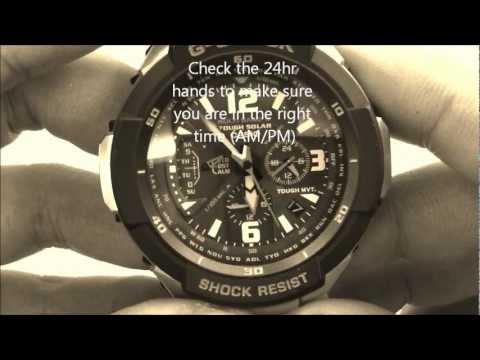 Casio G-Shock GW-3000 Time Zone Changing