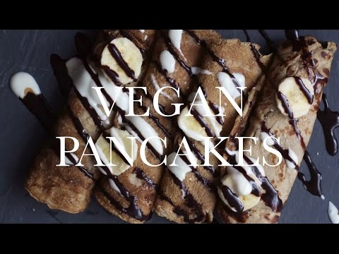 EASY VEGAN PANCAKES/CREPES - oil & gluten free, recipe with Bali Nutra coconut syrup