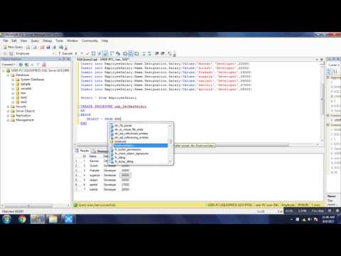 Get Maximum Salary From Employee Table Query  Using Stored Procedure   SQL Server Tutorial