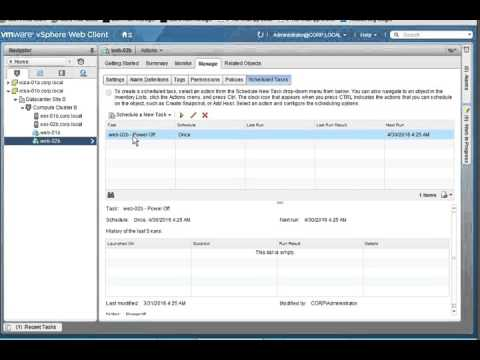 Creating, Editing, and Deleting a Scheduled Taskin vCenter Server