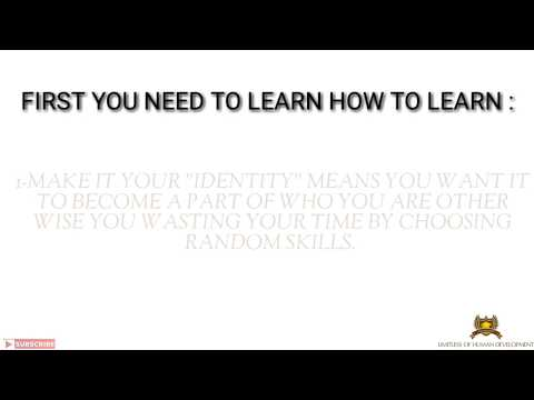 HOW TO LEARN ANY SKILL FASTER AND MORE EFFECTIVELY ? IN 1 MIN!
