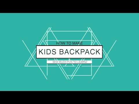 SEWING KIDS BACKPACK | MENJAHIT TAS ANAK