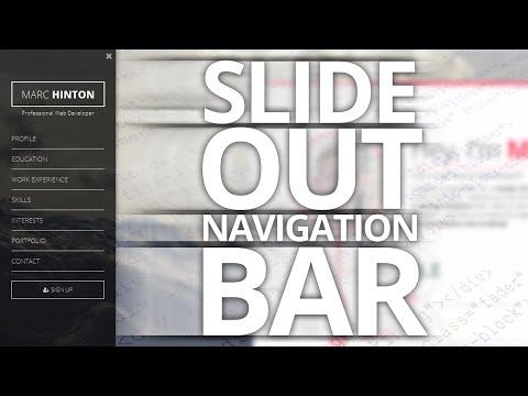 Slide Out Navigation Menu! [VOICE TUTORIAL]