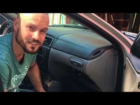 Replacing a blower motor resistor: Ford Taurus common issues quick fix