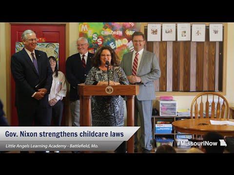 Gov. Nixon signs bills helping Missouri parents find quality childcare