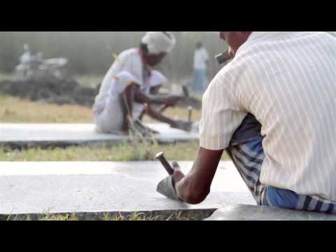 How Indian stone masons hand-cut slabs of granite for a design exhibition