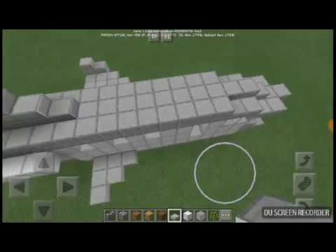 How to build a private jet in Minecraft (PE)
