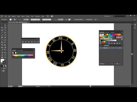 How to Draw a Clock in Adobe Illustrator