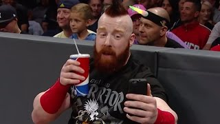 Watch what went down on and off the air as Sheamus was #NotWatchingCesaro on Facebook Live at Raw!