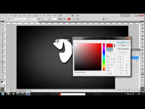 How to make a Gradient Desktop Background in Photoshop