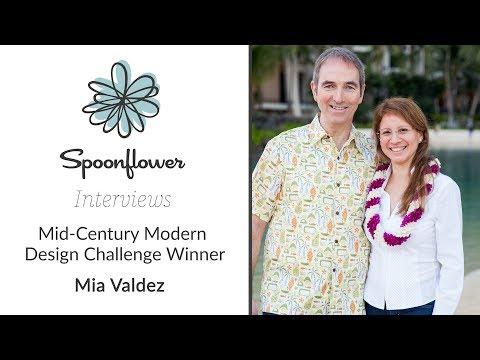 Spoonflower Interviews...Mia Valdez   Spoonflower