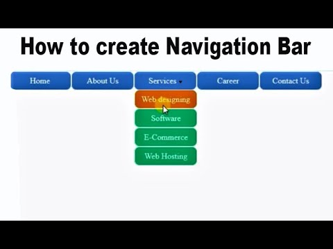How to create Navigation bar in Asp.Net  with CSS