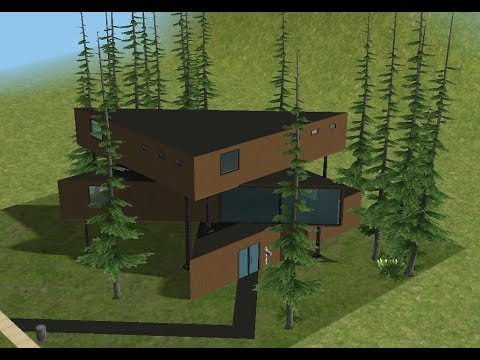 ♢ The Sims 2 ♢ Modern Triangle Layered House ♢