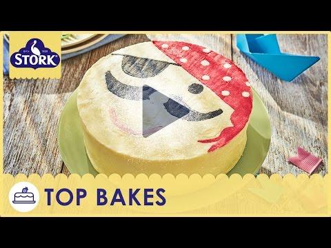 Pirate Birthday Cake Recipe Demonstration - Bake With Stork