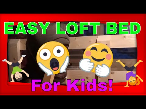 How To Build A Twin Loft Bed for Kids - DIY Bed Frame