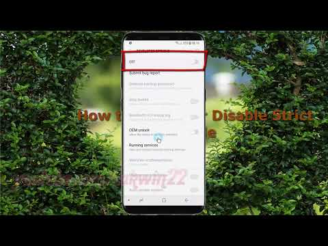 Android Nougat : How to Enable or Disable Strict mode in Samsung Galaxy S8 or S8+