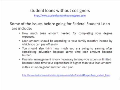 student loans without cosigners