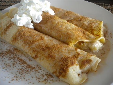 Crepes Banana Filling -  (Easy)(Fast)