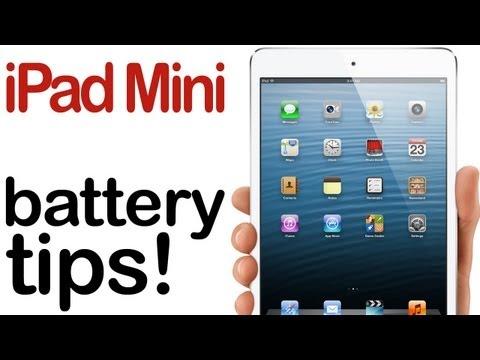iPad Mini: Battery Saving Tips!