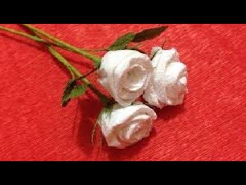 Flower Making From Tissue Paper/creative art/Tissue Paper Crafts Ideas/DIY Art and Crafts Ideas