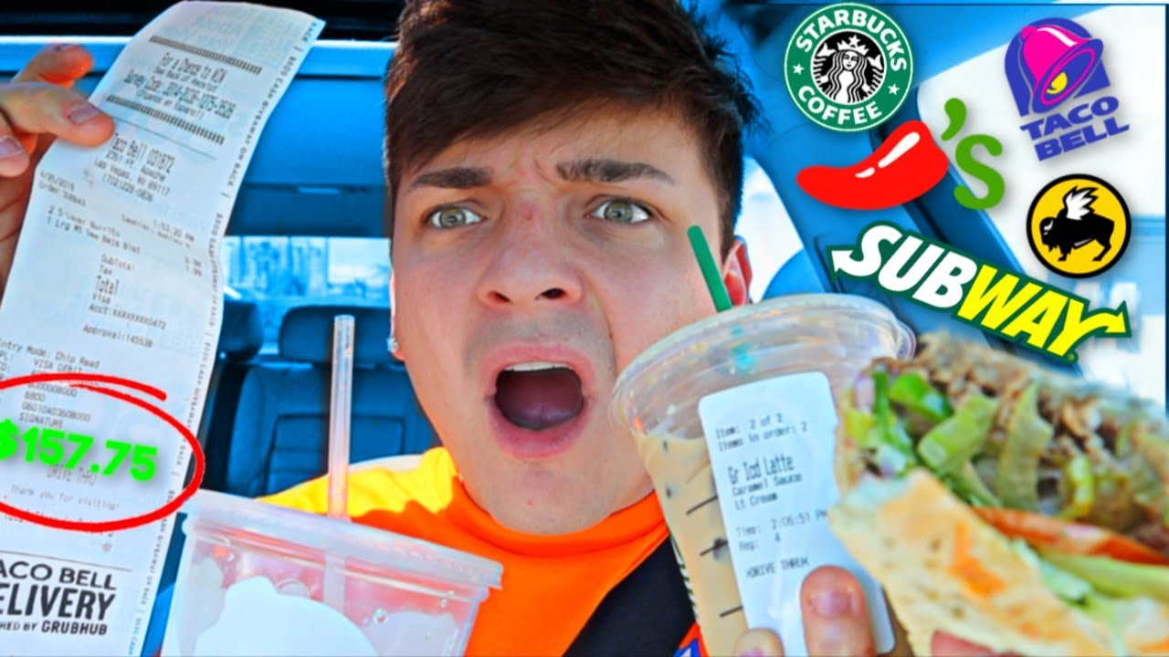 Letting FAST FOOD Employees DECIDE what i EAT for 24 HOURS (FOOD CHALLENGE)