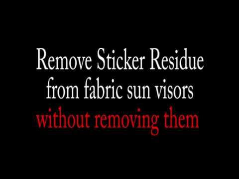 How to Remove Glue Residue From Fabric Sun Visors