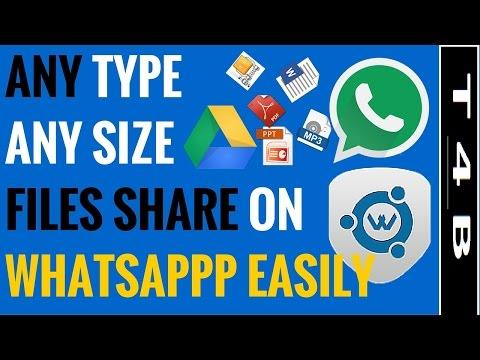 how to send share PDF PPT GIF VIDEO songs XLS ZIP files on WhatsApp : WhatsappTools