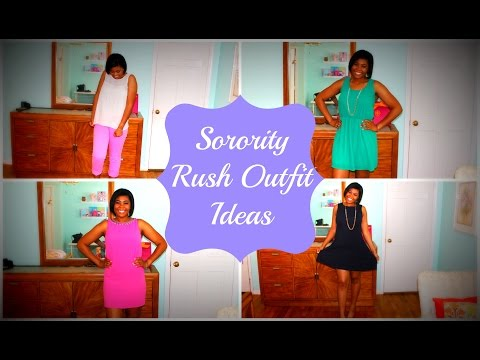 What to Wear During Formal Sorority Rush/Recruitment ♡