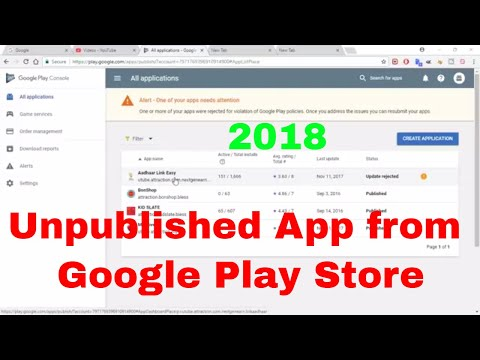 How to Unpublished an app from Google Play Store. Due void copy rights law. 2018