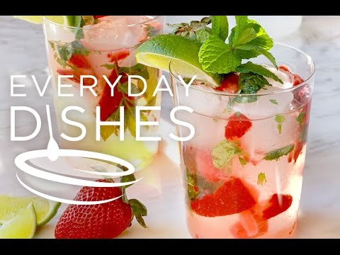 Summertime Strawberry Mojitos