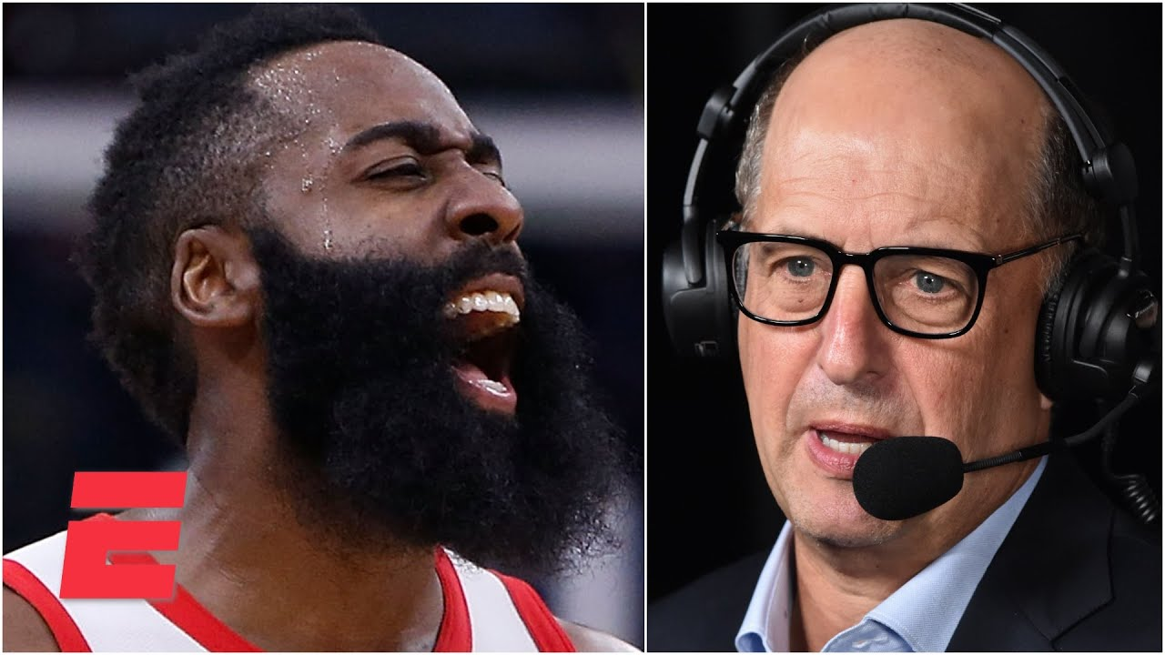 Jeff Van Gundy's thoughts on how the Rockets have treated James Harden over the years | KJZ
