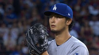 LAD@ARI Gm3: Darvish fans seven in five-plus innings