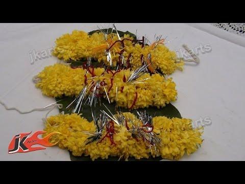DIY Gajra / Veni / Flower Garland for Indian Wedding   How to make   JK Arts 142