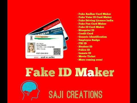 Create fake ID your own Risk. Funny application.Malayalam tutorial video.