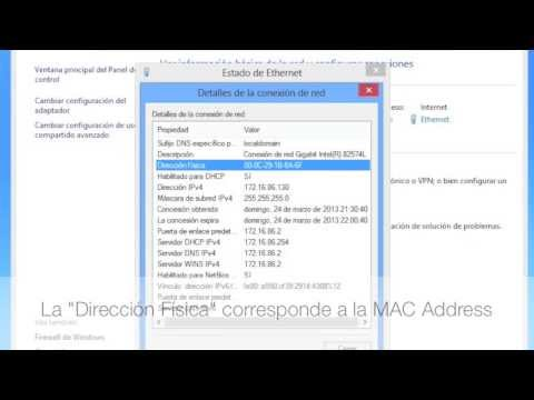 Como obtener tu MAC Address en Windows 7 y Windows 8