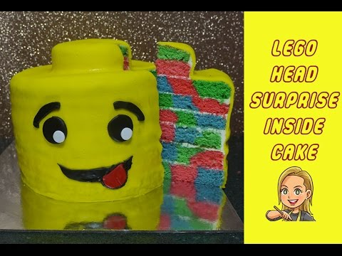 Lego Cake - Surprise Inside Cake - Lego Man Head